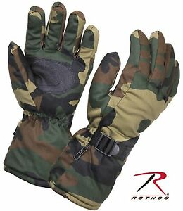 Rothco Insulated Winter Gloves w/ Extra Long Cuff & Drawstring Wrists
