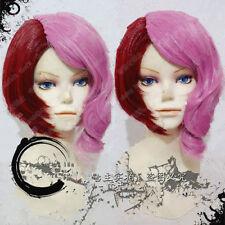 Tekken Alisa Short Anime Pink + Red Cosplay Wig #h