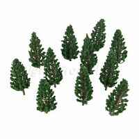 50 Pcs Green Model Pine Trees Model Train Trees For HO OO Scale Scene 78mm