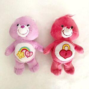 """Care Bears BEST FRIEND & SECRET BEAR 8"""" Plush Stuffed Animal Lot Of 2 Dolls"""