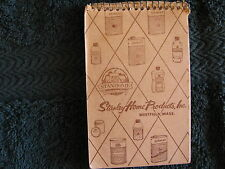 1957 Stanley Home Products Inc Spiral Notebook Calendar