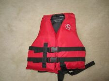 Child size Small 30-50 lbs life vest water ski jacket wakeboarding red Pfd lll