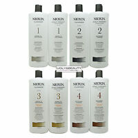 Nioxin Cleanser & Scalp Therapy Liter Duo 1L / 33.8 Fl. (Choose Your System #)