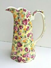 Vintage Lord Nelson Large Colourful Fluted Pitcher Jug Lovely Old Item