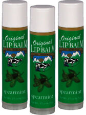 Original Lip Balm Spearmint All Natural Lip Care .15 oz 3 pack