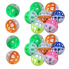 18Pcs Pet Cat Kitten Play Balls With Jingle Bell Pounce Chase Rattle Toy Plastic