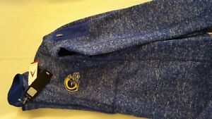 RAMS Blue & Gold Embroidered Logo Sweater/Jacket