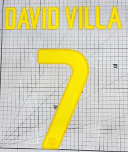 David Villa #21 Spain World Cup 2006 Home Football Nameset for shirt