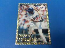 1991 MLB Official Darryl Strawberry LA Dodgers Gold Border Baseball Trading Card