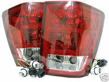 For 2005-2006 Grand Cherokee Rear Tail Light Lamp RL H One Pair W/6 Bulbs NEW