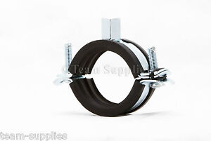RUBBER LINED ANTI VIBRATION PIPE JUBILEE FIXING CLIPS