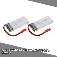 GoolRC 3.7V 1200mAh 25C JST Plug LiPo Battery for WKLIPO-5#10 5G4Q3 SYMA A8Q0