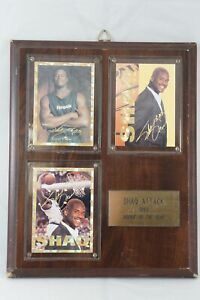 1993 Shaq Attack - Rookie of the Year - Autograph - Shaquille O'Neal Plaque