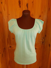 WALLIS aqua green stretch short sleeve gypsy boho summer t-shirt tunic top 14 42