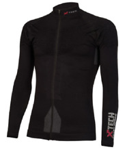 XTECH Maglia ICE STORM Invernale Zip Ciclismo Runing Moto DRYARN-QSKIN TG S/M