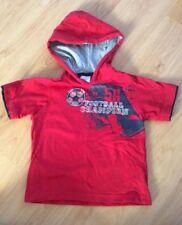 Ladybird 3-4 Years Red Hooded Football Champion T Shirt Boys Kids Lined Hood