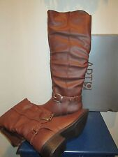 APT. 9 APRIENE COGNAC SLOUCH TALL RIDING BOOTS WOMENS SHOES SZ 6 M NEW $85