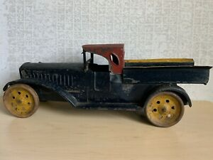 1920s Schieble Hill Climber Pressed Steel Tow Truck (Become A Dump Truck) 18""