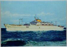 "Cartolina Marina - Motonave ""Africa"" Società Di Navigazione Lloyd Triestino - (D"