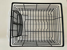 Black Kitchen Dish Drying Rack Metal Dish Drainer w/Holder, Free Drain Board