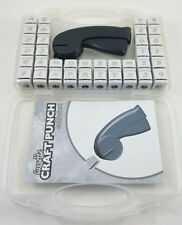 Cassette Craft Punch Alphabet + Number Set 36 Piece w/ Handle For Paper Crafting