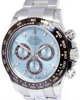 Rolex Daytona Platinum Chronograph Watch Glacier Blue Box/Papers 116506