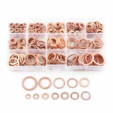 Copper Gasket Flat Ring Washers Set 280 Pcs Assorted Seal Assortment Hardware