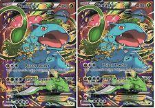 2 X Venusaur EX NM XY123 Red Blue Black Star Holo FULL ART Promo Pokemon TCG