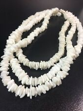 Lot Of 3 Hawaiian Beach Puka Sea Shell Seashell Necklaces Vintage Hawaii Jewelry