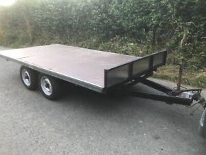 12ft Flat bed trailer