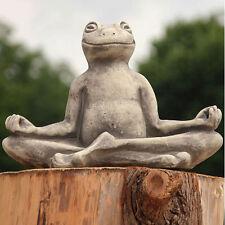 Vidroflor Garten Figur YOGA FROSCH groß | Gartenfigur Skulptur steinguss Statue