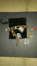 DOLCE&GABBANA WOMEN ANKLET OR BRACELET ,CHARMS BRAND NEW WITH POUCH GOLD COLOR