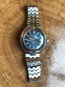VINTAGE USSR Vostok Amphibian Diver Automatic watch SCUBA DUDE 2416b -serviced -