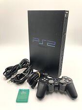 Sony Playstation 2 PS2 FAT Schwarz Konsole Controller Kabel Memory Card