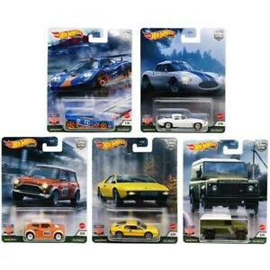 Hot Wheels Premium Car Culture Real Riders British Horsepower Set of All 5 Cars