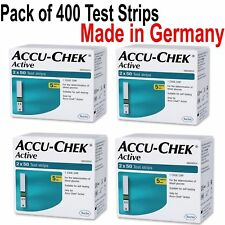 PACK OF 400  strips,ACCU CHEK ACTIVE TEST STRIPS EXP FEB-2021 Free Shipping