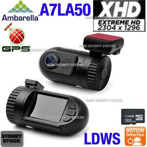 Dash camera 0805 A7 32GB GPS 1296P mini In Car Security Blackbox Crashcam Backup