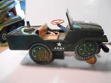 modern toys desert  patrol jeep 60's tin toy  tole ( masudaya)