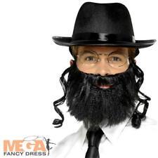 Rabbi Kit Jewish Fancy Dress Hat & Beard Accessories Religious Adult Costume Kit