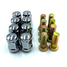 """Moose Type 387X//393X Lug Nut Set 3//8/"""" Chrome Polaris #141144"""