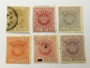 old stamps  PORTUGAL MACAO   x  6