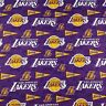 """Lakers team  logo  Los Angeles Cotton fabric FQ 18"""" x 22"""" for mask"""