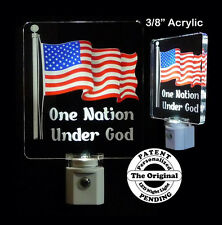 American Flag Night Light  - LED - USA Flag - One Nation Under God