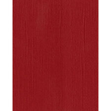 """AC Bazzill Basics 8.5"""" x 11"""" Monochromatic Canvas Cardstock - 25 Sheets, Red"""