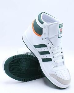 adidas Kids Unisex Top Ten Hi Top Sneakers White/Green/Orange Size 5M EF2831