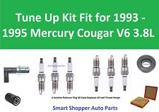 Spark Plugs, Oil Air Filter, PCV To Tune Up for 1993 1994 1995 Mercury Cougar V6