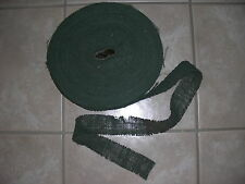 """15 Yards of Orig WWII US Army DARK GREEN Camouflage 2"""" Burlap for helmets & Nets"""
