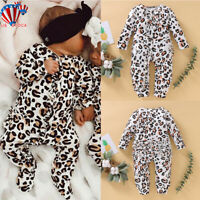 Newborn Baby Girls Clothes Romper Bodysuit Jumpsuit Outfits Long Sleeve Playsuit