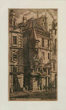 "Charles Meryon ( 1821-1868) ""Little Tower on the Rue de La Tixeranderie""etching"
