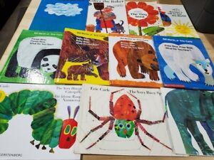Lot of 5 Eric Carle PB/HC Books for Children's Kid Toddler *Random Mix*